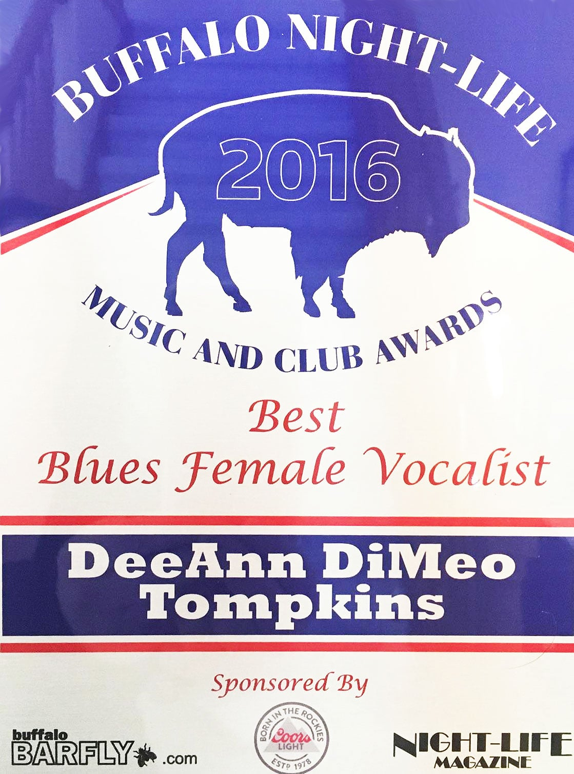 Best Blues Female Vocalist Night Life Magazine